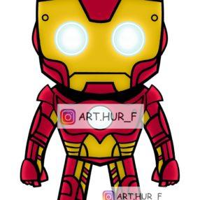 sticker iron man arthur fouchet