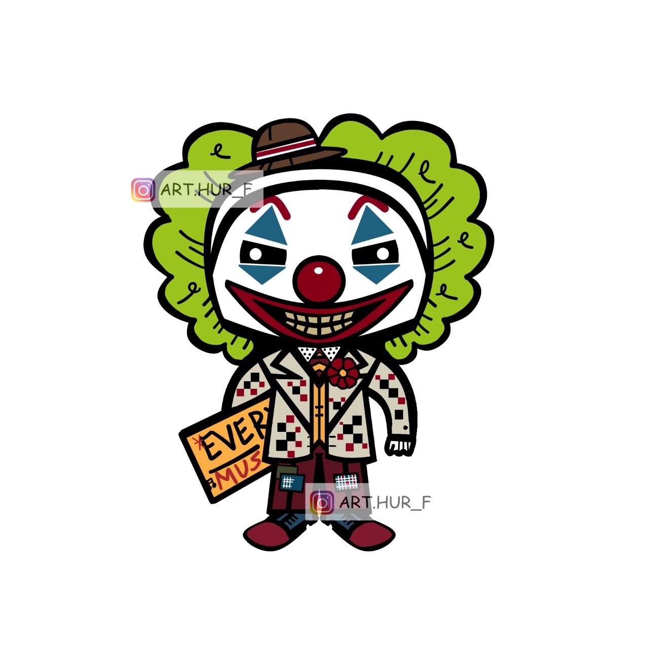 sticker arthur fleck en clown joker arthur fouchet boutique esprit Pop shop