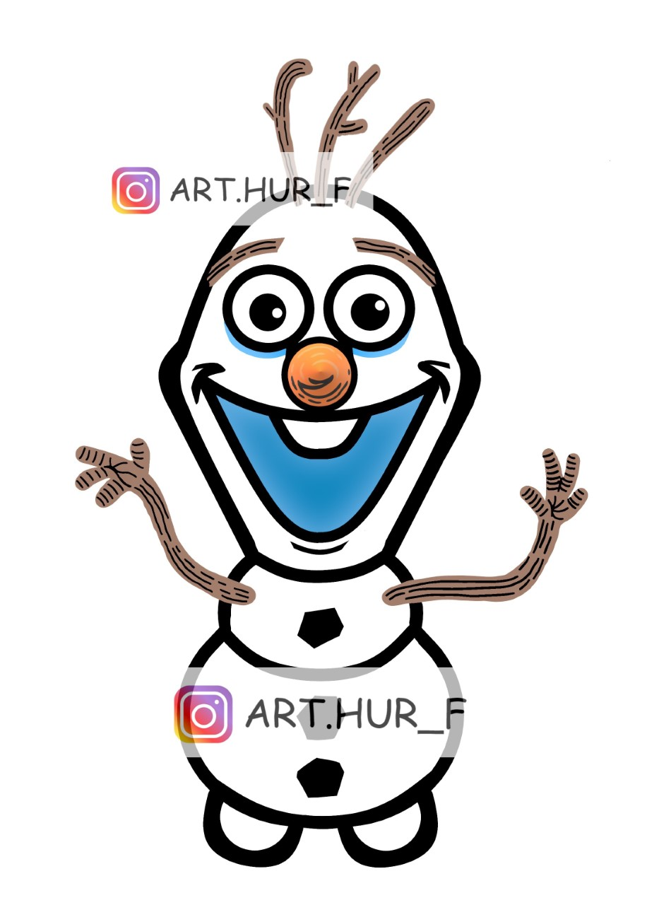 olaf reine des neiges sticker arthur fouchet