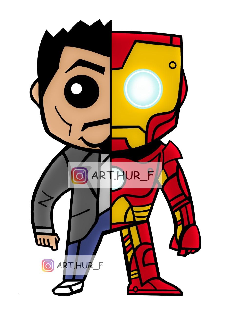 sticker iron man tony stark by arthur fouchet