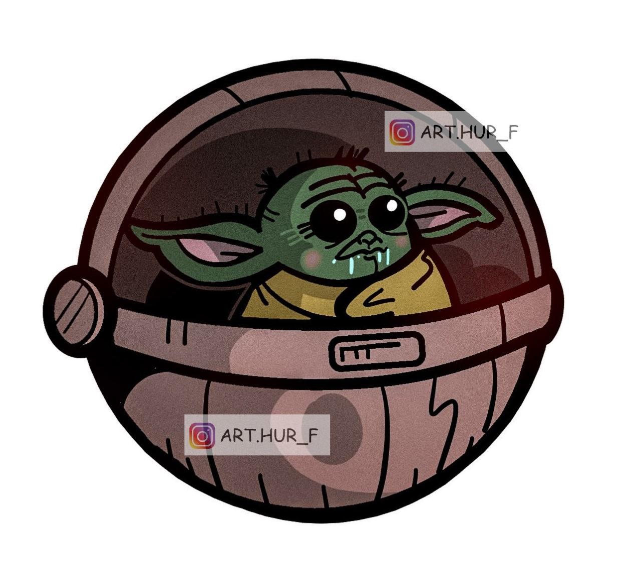 sticker baby yoda arthur fouchet